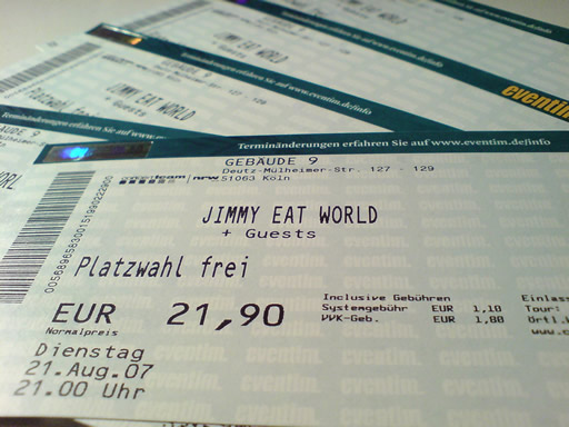 Jimmy Eat World Karte